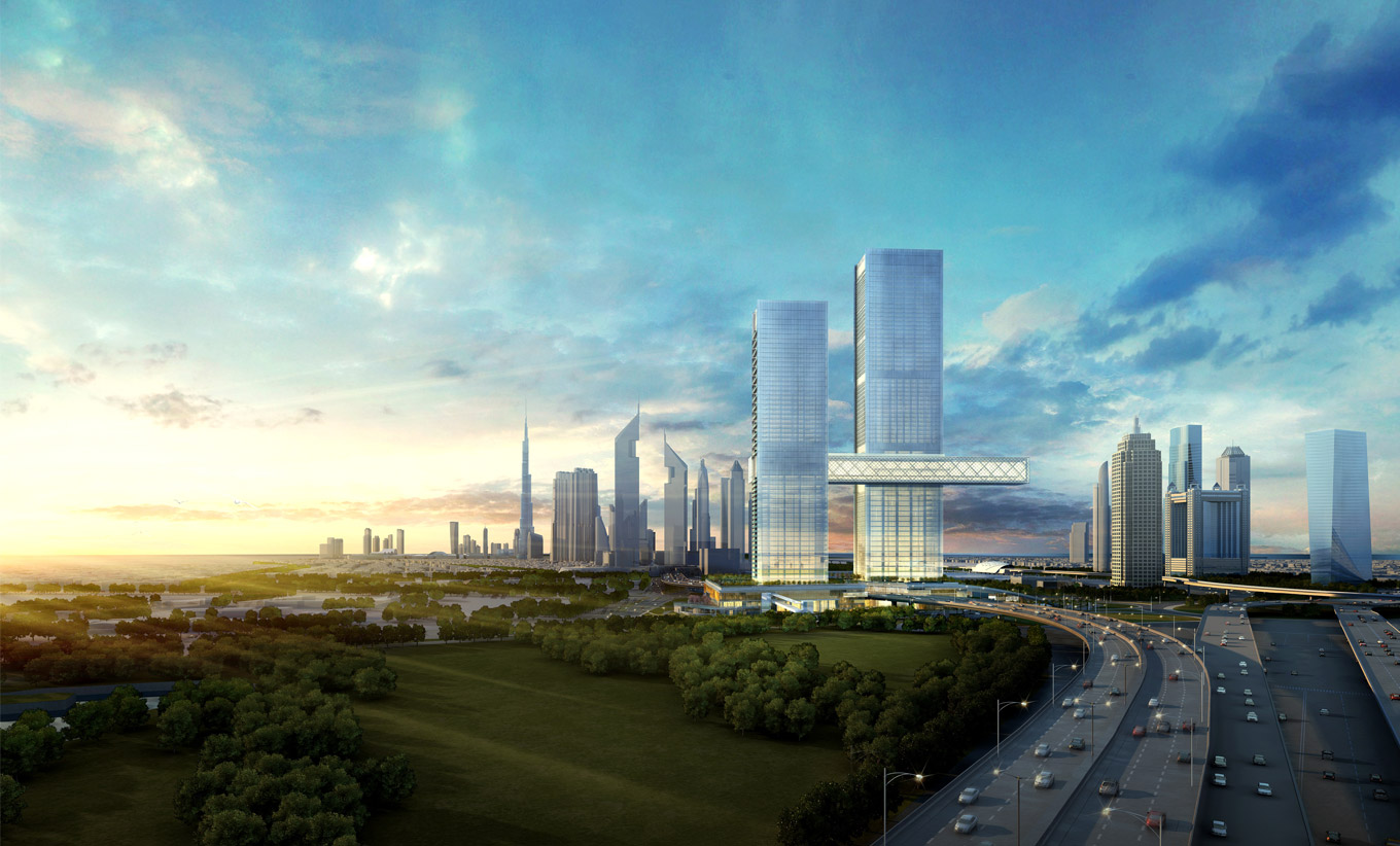 'WORLD'S LARGEST CANTILEVER' TO LINK DRAMATIC DUBAI TOWERS